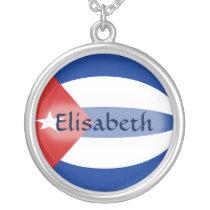 Cuba Flag   Name Necklace