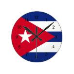 Cuba: Flag of Cuba Round Wallclocks