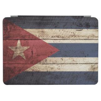 Cuba Flag on Old Wood Grain iPad Air Cover
