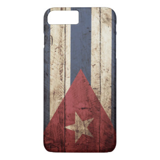 Cuba Flag on Old Wood Grain iPhone 8 Plus/7 Plus Case