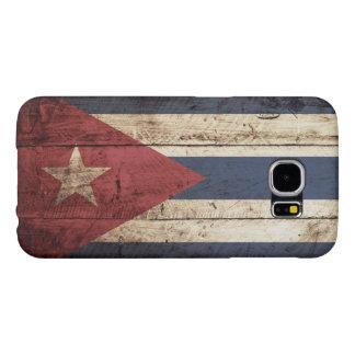 Cuba Flag on Old Wood Grain Samsung Galaxy S6 Case
