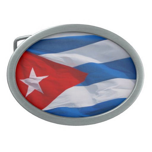 cuba flag oval belt buckles