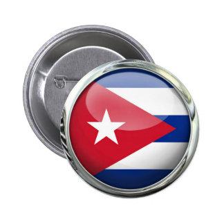 Cuba Flag Pinback Button