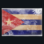 """Cuba Flag Placemat<br><div class=""""desc"""">Original flag design looks like it was painted on! Commemorate your world travels, celebrate your heritage or show everyone how much you love your home! This image is available on a variety of products. Check out all of our other designs at http://www.zazzle.com/zipperedflags Do you have a request or questions? Contact...</div>"""