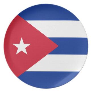 Cuba Flag Plate