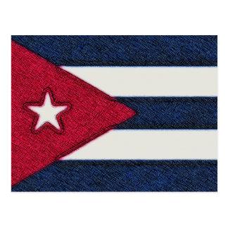 CUBA FLAG POST CARD