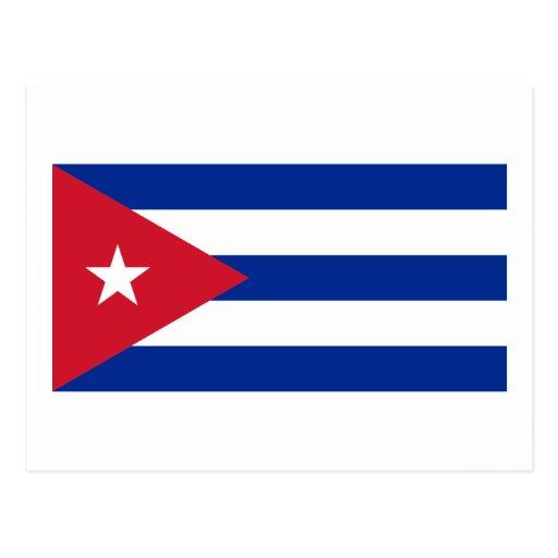 Cuba flag postcards