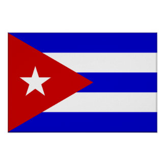 Cuba Flag Poster