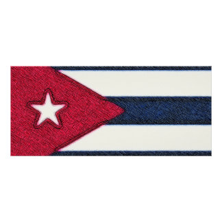 CUBA FLAG RACK CARD