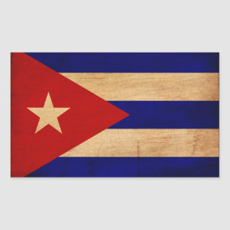 Cuba Flag Rectangular Sticker