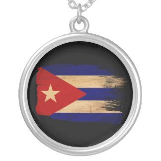 Cuba Flag Round Pendant Necklace