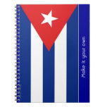 Cuba flag spiral note book