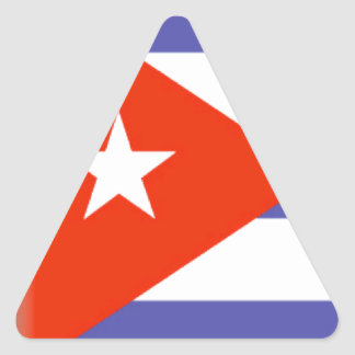 Cuba Flag Triangle Sticker