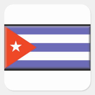 Cuba Flag Square Stickers