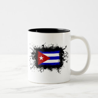 Cuba Flag Two-Tone Coffee Mug