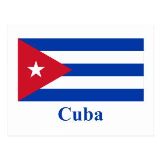 Cuba Flag with Name Postcard