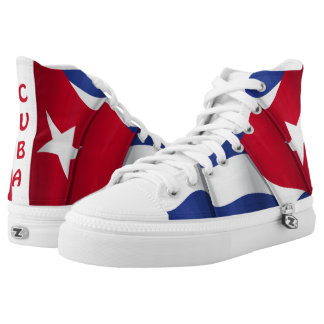 Cuba Flag ZIPZ High Top Shoes