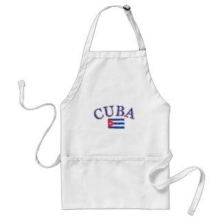 Cuba football design adult apron