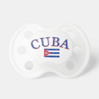 Cuba football design pacifiers