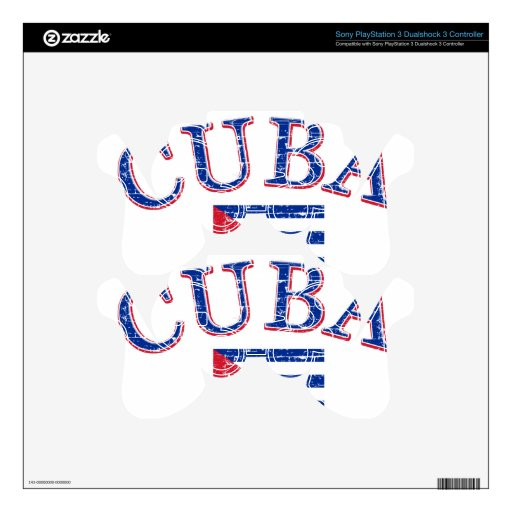 Cuba football design PS3 controller decal