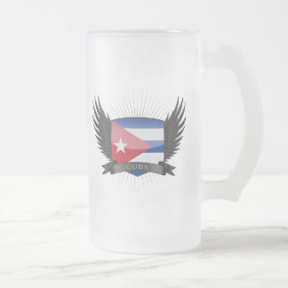CUBA FROSTED GLASS BEER MUG