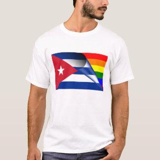 Cuba Gay Pride Rainbow Flag T-Shirt