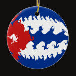 Cuba Gnarly Flag Ceramic Ornament