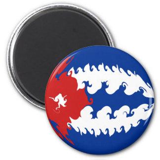 Cuba Gnarly Flag Magnet