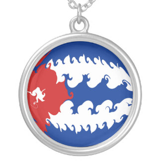 Cuba Gnarly Flag Silver Plated Necklace