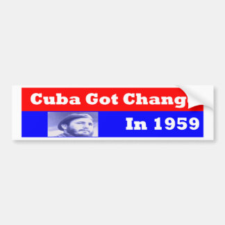Cuba Got CChange in 1959 Bumper Stickers