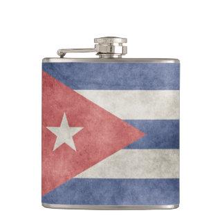 Cuba Grunge Flag Hip Flasks