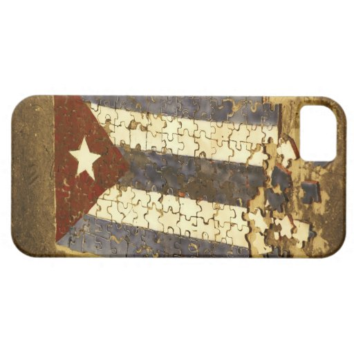 CUBA, Havana. Mosaic puzzle of the cuban flag in iPhone SE/5/5s Case