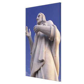 Cuba, Havana, Sculpture of Jesus. Canvas Print