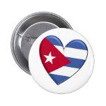 Cuba Heart Flag Pin