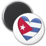 Cuba Heart Flag Refrigerator Magnet