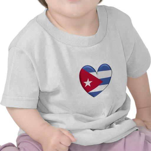 Cuba Heart Flag T-shirt