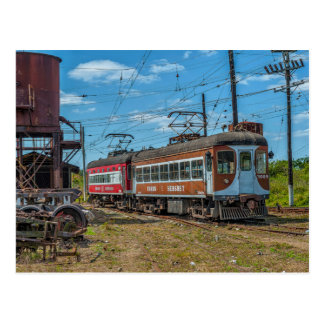 Cuba: Hershey line leaving depot. Postcard