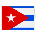 Cuba High quality Flag Greeting Cards