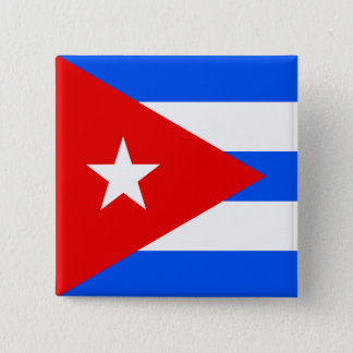 Cuba High quality Flag Pinback Button