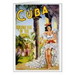 Cuba holiday isle of the tropics Vintage Poster Card