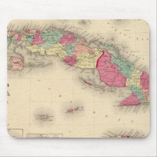 Cuba, Jamaica, and Porto Rico Mouse Pad