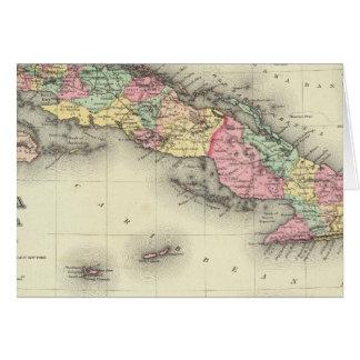 Cuba, Jamaica And Puerto Rico Greeting Card