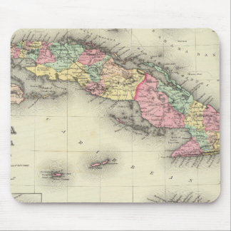 Cuba, Jamaica And Puerto Rico Mouse Pad