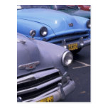 Cuba, La Habana. Automóviles clásicos de los años Tarjeta Postal