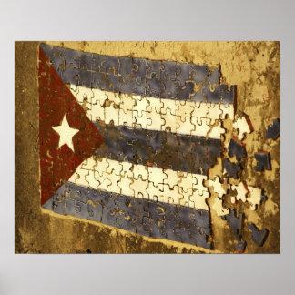 CUBA, La Habana. Rompecabezas del mosaico de la ba Poster