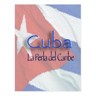 CUBA - La Perla del Caribe Postcard