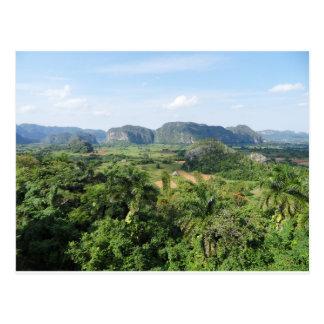 Cuba landscape postcard