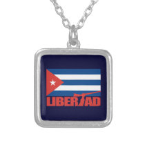 Cuba -Libertad Silver Plated Necklace