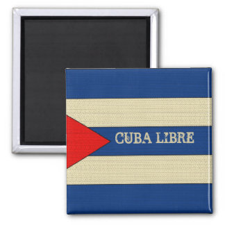 Cuba Libre 2 Inch Square Magnet