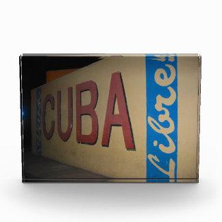 cuba libre acrylic award